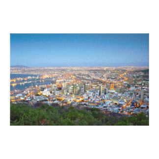 Cityscape From Summit Of Signal Hill At Dusk Canvas Print