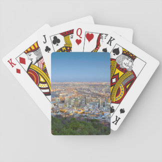Cityscape From Summit Of Signal Hill At Dusk Playing Cards