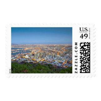 Cityscape From Summit Of Signal Hill At Dusk Postage