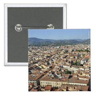 Cityscape from top of cupola of the Duomo Santa 2 Pinback Button