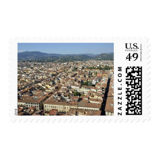 Cityscape from top of cupola of the Duomo Santa 2 Postage