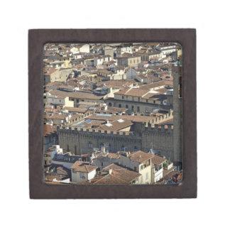 Cityscape from top of cupola of the Duomo Santa Keepsake Box
