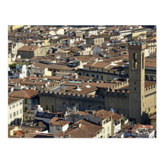 Cityscape from top of cupola of the Duomo Santa Postcard