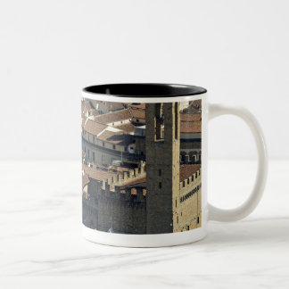 Cityscape from top of cupola of the Duomo Santa Two-Tone Coffee Mug