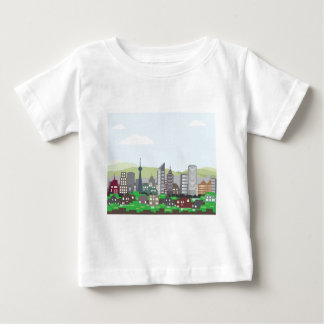 Cityscape Hills Vector homes and skyscrapers T Shirt