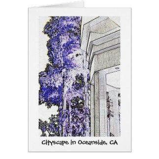 Cityscape in Oceanside, CA Card