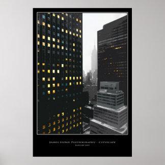 Cityscape - New York City Poster