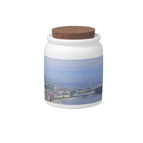 Cityscape of Budapest Candy Jar