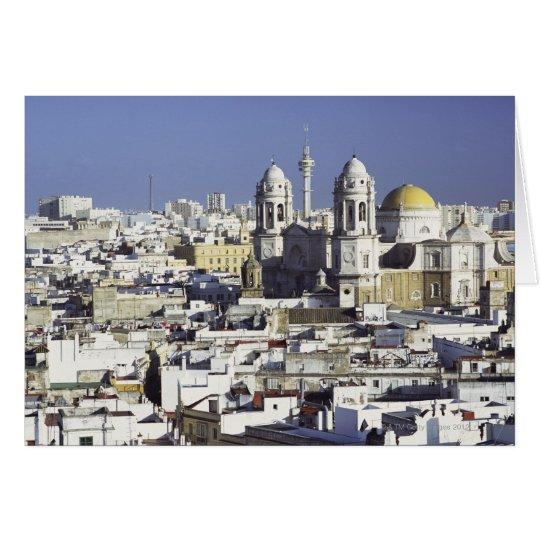 Cityscape of Cadiz, Spain Card