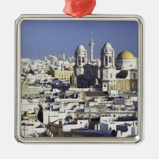 Cityscape of Cadiz, Spain Metal Ornament