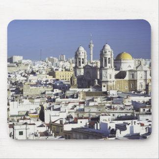 Cityscape of Cadiz, Spain Mouse Pad
