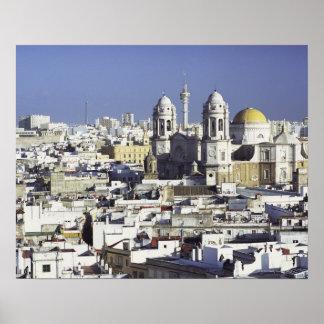 Cityscape of Cadiz, Spain Poster