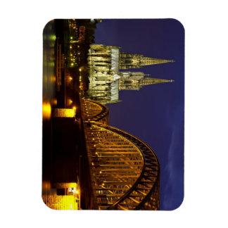 Cityscape of Cologne Flexi Magnet