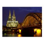 Cityscape of Cologne Postcard