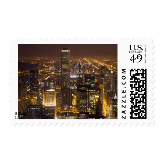 Cityscape of downtown Chicago Postage
