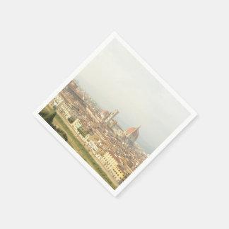Cityscape of Florence, Italy Napkin