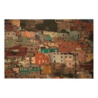 Cityscape Of Guanajuato, Mexico Wood Wall Art