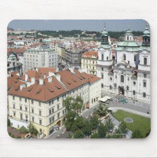 Cityscape of historical Prague, Czech Republic Mouse Pad