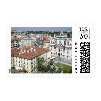 Cityscape of historical Prague, Czech Republic Postage