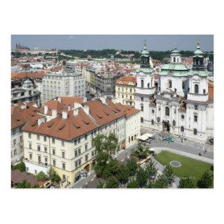 Cityscape of historical Prague, Czech Republic Postcard