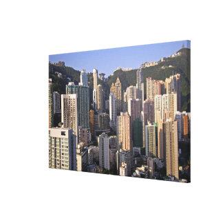 Cityscape of Hong Kong, China Canvas Print