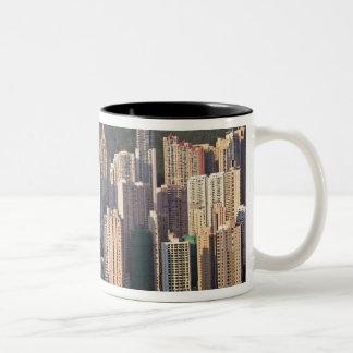 Cityscape of Hong Kong, China Two-Tone Coffee Mug