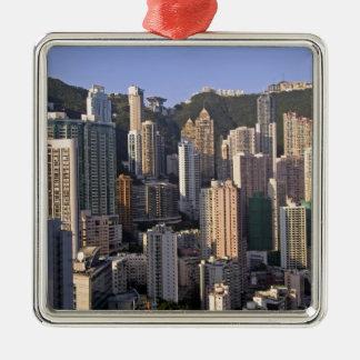 Cityscape of Hong Kong, China Christmas Tree Ornaments