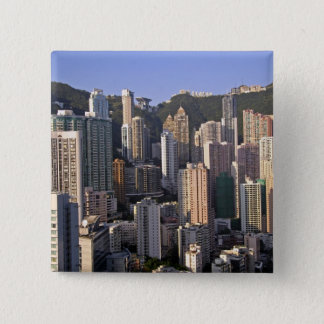 Cityscape of Hong Kong, China Pinback Button