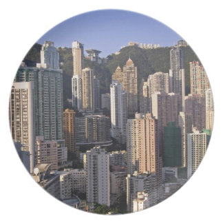 Cityscape of Hong Kong, China Party Plate