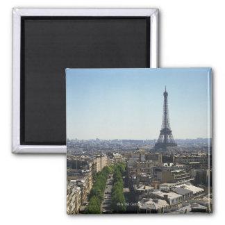 Cityscape of Paris, France 2 Inch Square Magnet