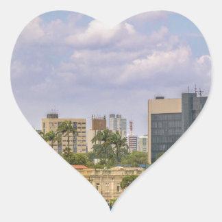 Cityscape of Recife, Pernambuco Brazil Heart Sticker