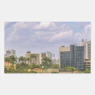 Cityscape of Recife, Pernambuco Brazil Rectangular Sticker