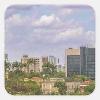 Cityscape of Recife, Pernambuco Brazil Square Sticker