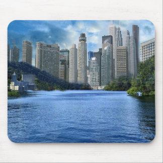 cityscape on a mousepad