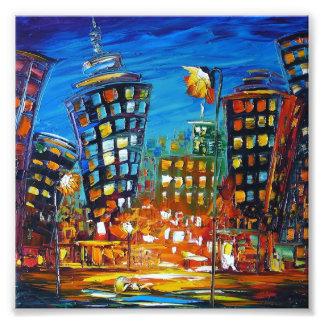 cityscape photo art