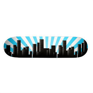 cityscape skateboard