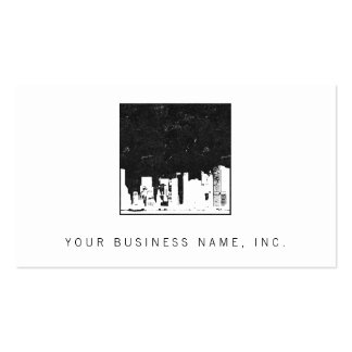Cityscape Square Double-Sided Standard Business Cards (Pack Of 100)