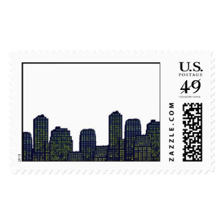 Cityscape stamp