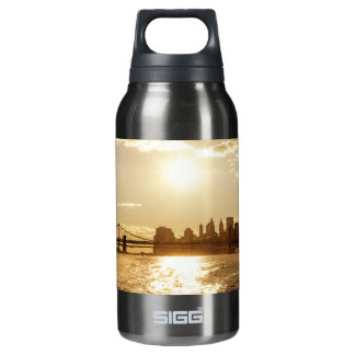 Cityscape Sunset over the New York Skyline 10 Oz Insulated SIGG Thermos Water Bottle