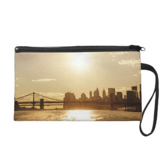 Cityscape Sunset over the New York Skyline Wristlets