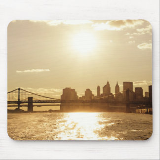 Cityscape Sunset over the New York Skyline Mouse Pad