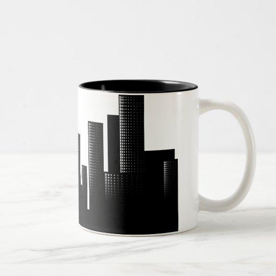 cityscape Two-Tone coffee mug