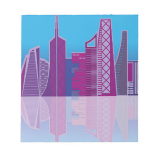 Cityscape vector notepad