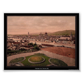Cityscape view, Florence, Italy Poster