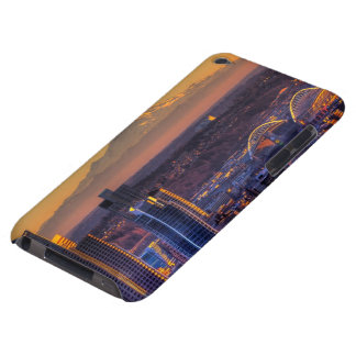Cityscape view of Seattle downtown, football Barely There iPod Cases