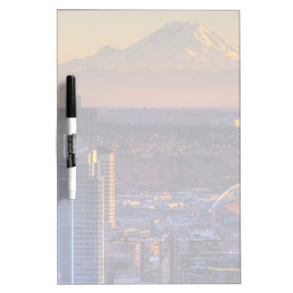 Cityscape view of Seattle downtown, football Dry-Erase Board