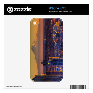Cityscape view of Seattle downtown, football iPhone 4S Skins