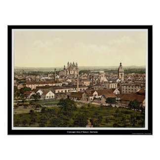 Cityscape view of Speyer, Germany Poster