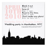 cityscape wedding party  Save the Date Card