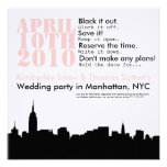 cityscape wedding party  Save the Date Announcements